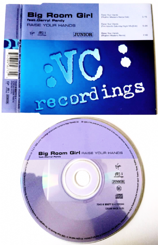 Big Room Girl ft Darryl Pandy ‎- Raise Your Hands (CD Single) (VG/VG)